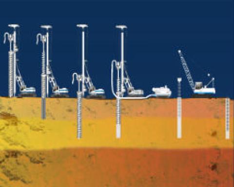 Как производится укрепление буроинъекционными сваями?