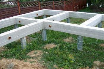 Готовый ростверковый фундамент для легкого дома