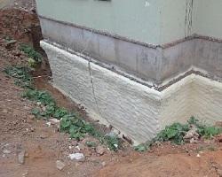 Фундамент дома, утепленный напылением пенополиуретана
