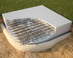 Устройство плиточного фундамента в разрезе