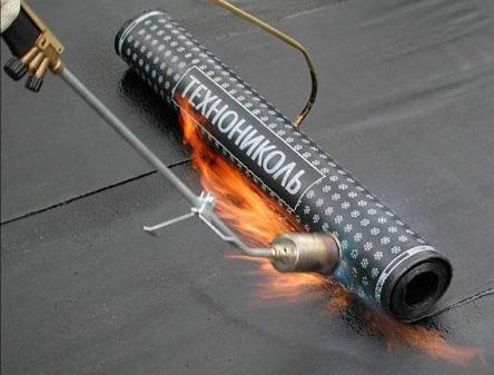 Наплавление рулонной гидроизоляции Технониколь