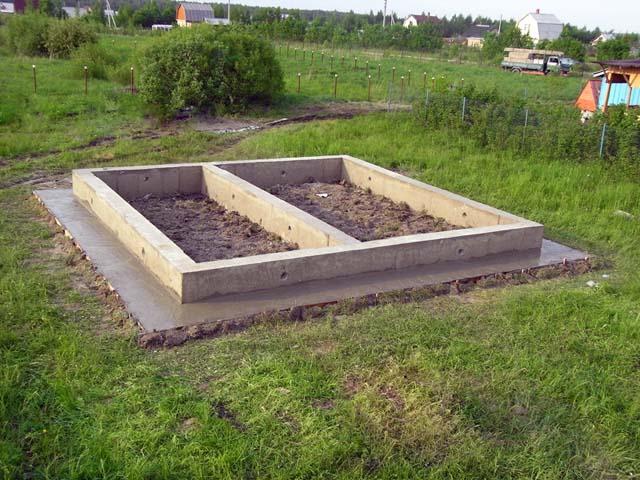 Мелкозаглубленный ленточный фундамент для бани