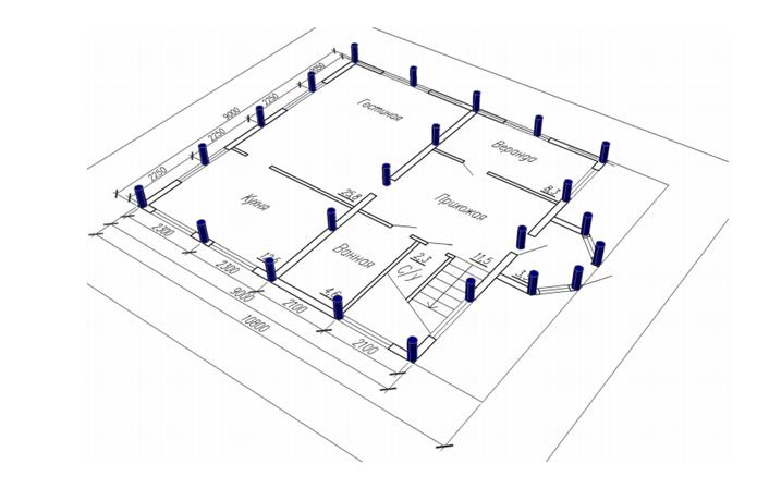Типовая схема свайного поля
