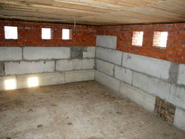 Готовый к внутренней отделке цокольный этаж