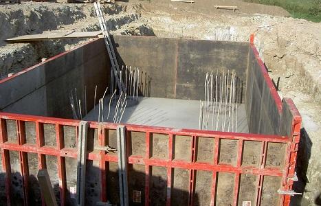 Применение крупнощитовой опалубки для фундамента