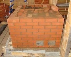 Строительство кирпичной печи с фундаментом