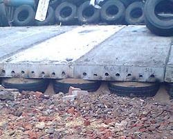 Фундамент из плит на покрышках