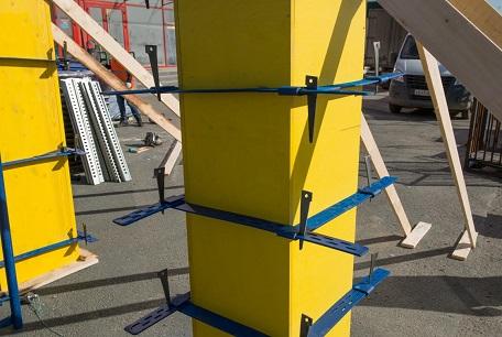 Сборная пластиковая опалубка под колонну