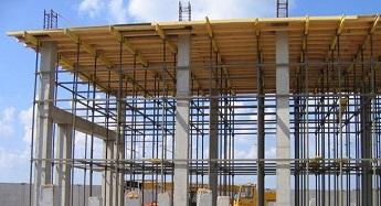 Применение опалубки для перекрытий на стройплощадке