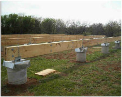 Как построить столбчатый фундамент из труб?