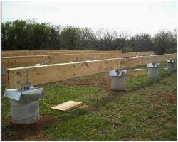 Трубный столбчатый фундамент с деревянным ростверком