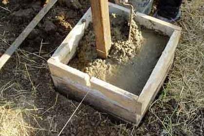 Процесс создания столбчатого фундамента под забор