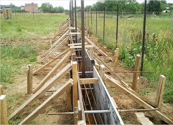 Опалубка для заливки бетона под ленточный фундамент для забора