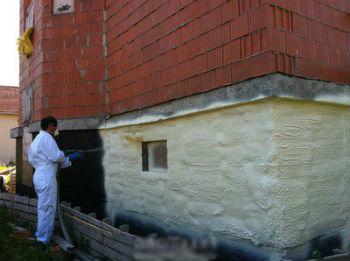 Процесс теплоизоляции бетона пенополиуретаном