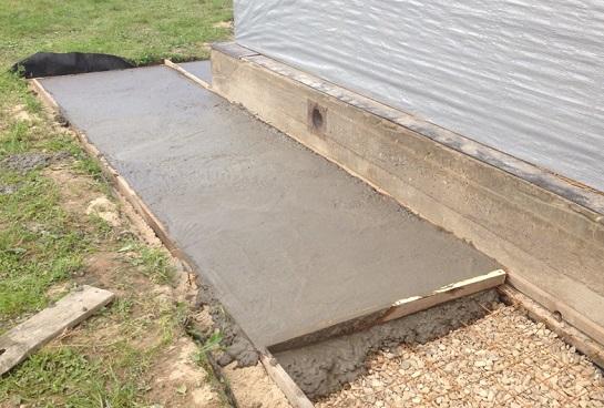 Застывание бетона в опалубке