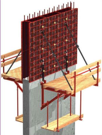 Схема монтажа скользящей опалубки под стены
